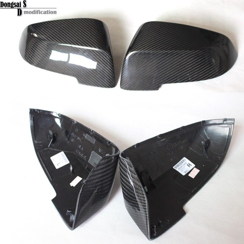 e5ea4dcac74 Substituição de fibra de carbono estilo do carro ABS tampa espelho porta  lateral traseira para bmw série 5 f10 gt f07 lci 2014 + 523i 528i 535i