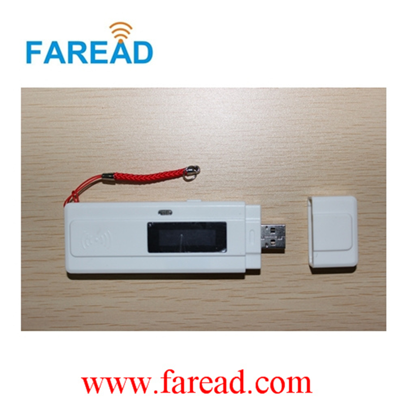 x1pc RFID pocket Reader 134.2kHz FDX-B  USB mini pet scanner+ x2pcs microchips testing