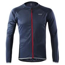 Mens Summer Long Sleeve Cycling Jersey MTB Bike Bicycle Shirt Clothing   Fluorescent Green Orange Blue Gray
