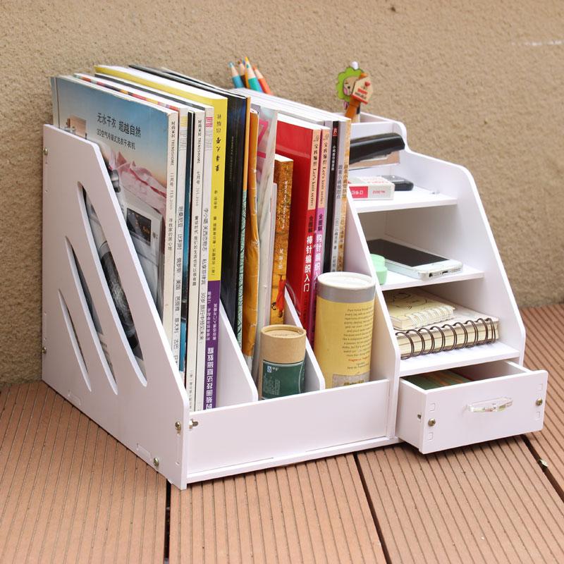 Scaffali da tavolo scrivania scaffale diy rimovibile rack for Scaffali da ufficio