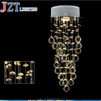 M Hot Sale LED Crystal Chandeliers Conic Pendant White Hanging Laparas De LED Luxury Crystal Lighting