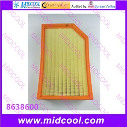O envio gratuito de Alta qulality cabine Filtro De Ar filtro de tecido não-tecido para 8638600