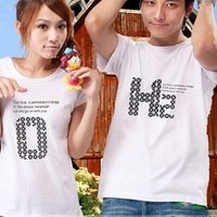 бесплатная доставка любителей майка для женщины / мужчины, пара футболки, печать Mile лица футболка, бесплатная размер, 2 шт./лот