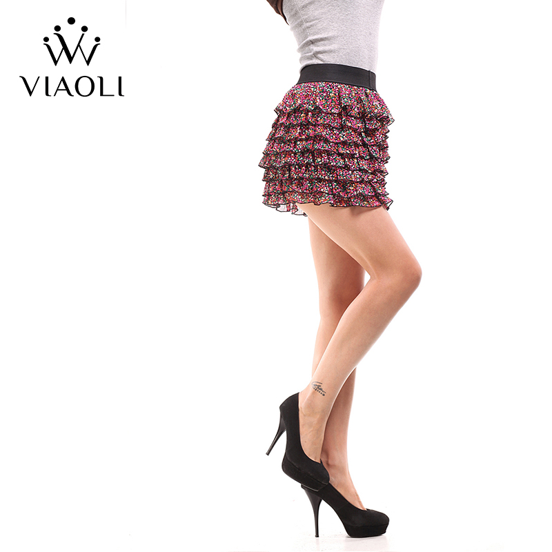 VIAOLI Kvinnor Mode Sexy Lady Schoolgirl Cosplay Sängkläder Plaid Night Super Mini Pleated Kjol Kort Kjolstorlek XS S M L XL