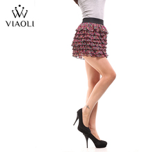 VIAOLI Women Fashion Sexy Lady Schoolgirl Cosplay Sleepwear Plaid Night Super Mini Pleated Skirt Short Skirt size XS S M L XL