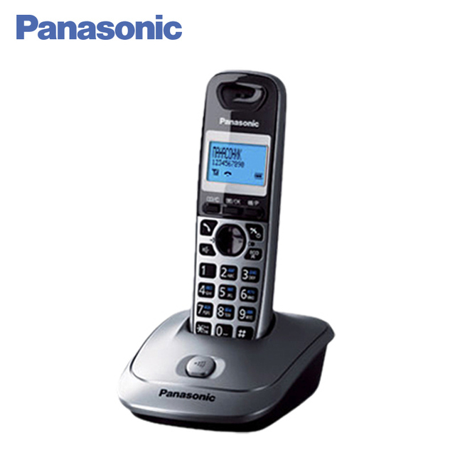 Panasonic KX-TG2511RUM DECT телефон, ЭКО-режим, возможность установки на стене, время/дата на дисплее, голубая подсветка дисплея, Caller ID, кнопка поиска трубки, 10 мелодий звонка, телефонный справочник на 50 записей