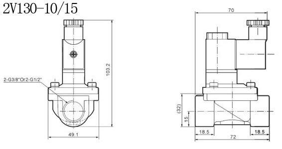 """3/"""" Латунные СОЛЕНОИДНЫЕ клапаны с ручным управлением 2/2 способ 13 мм 2V130-10 модель 10 шт. в партии"""
