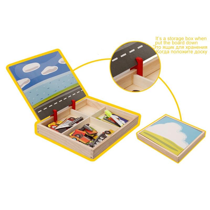 MWZ magnetska zabava jigsaw djeca drvene puzzle odbora kutije komada - Igre i zagonetke - Foto 6