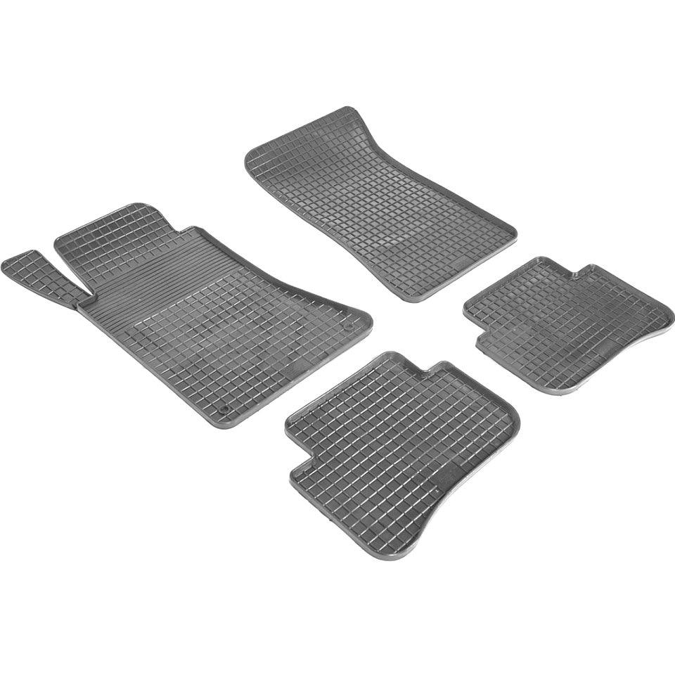Rubber grid floor mats for Mercedes-Benz C-class 4-MATIC W204 2007 2008 2009 2010 2012 2013 2014 2015 Seintex 00907 комплект ковриков в салон автомобиля klever standart для mercedes benz c class w204 седан 2007 2014