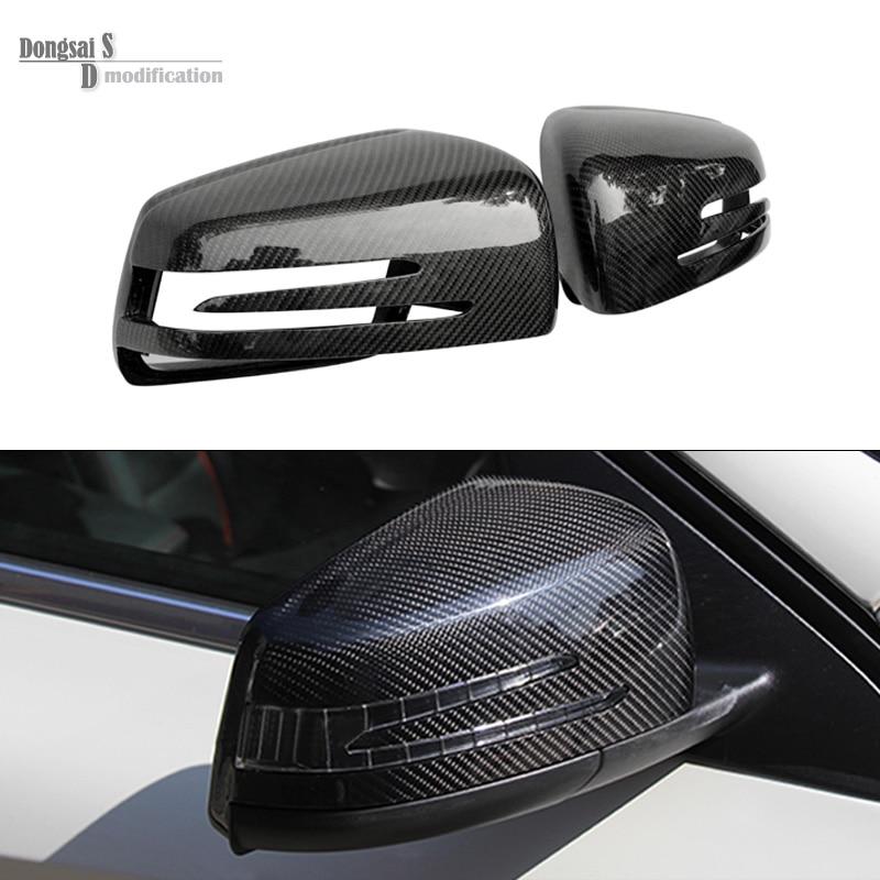 Mercedes w204 w212 W216 w221 w207 LCI w218 w176 sostituzione del carbonio fibra side door specchio copertura si estende per benz A classe CLA