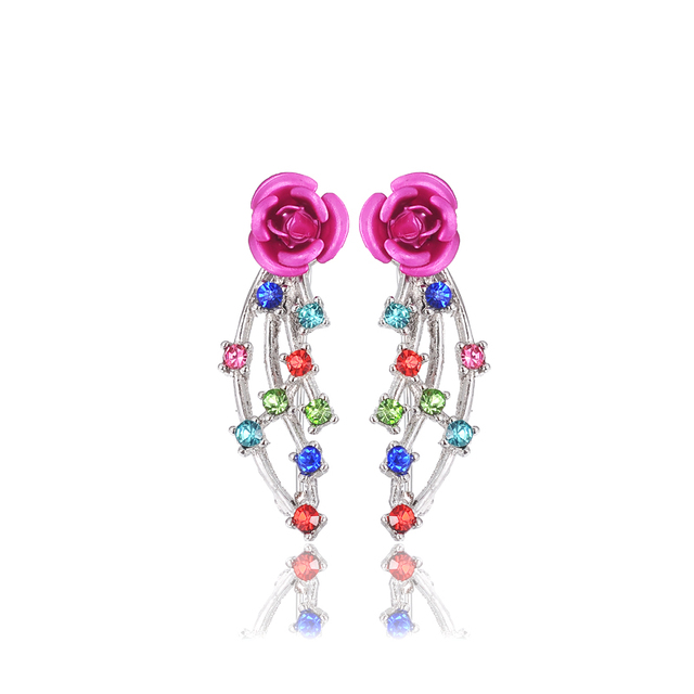 Flower Clip Angle Wing Earrings