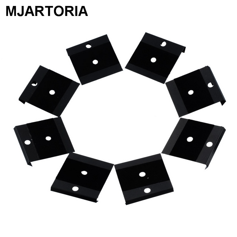 MJARTORIA 20PCs Display Card Fit Snap Buttons Black Lint Plastic 4.2x4cm DIY AccessoriesFor Gifts Making For Men Women DIY Snaps
