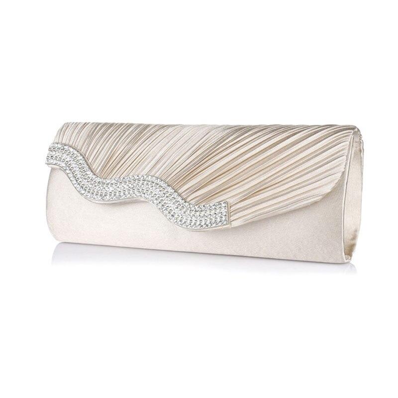 2016 Rhinestone shoulder bag Ladies Clutch Bag Women Evening Bag Wedding Party Purse Chain Handbag Bolsas