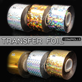 1 roll/lot Nail Art Transfer Foil 22 Colors Sticker for Nail Tip Decoration