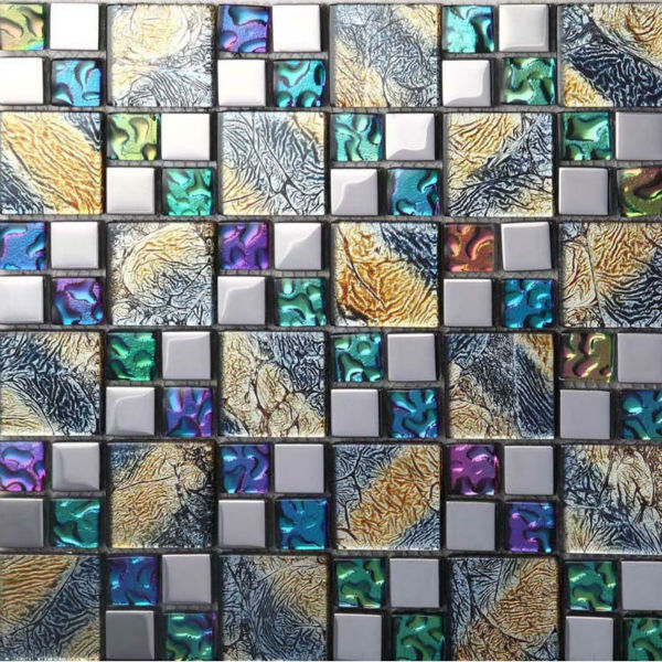 Azulejos de mosaico de vidrio baño pegatinas pared de la cocina ...