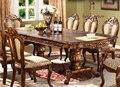 Bandeja escalável mesas europeia Americano mesa retangular, contador 6-8 pessoas mesa de jantar em madeira maciça set