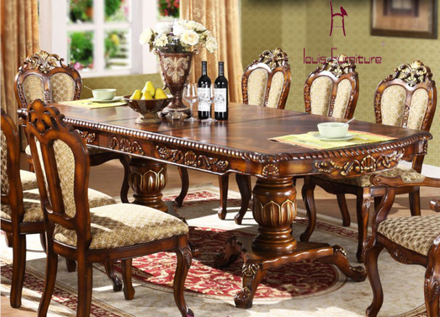 European Scalable Tray Tables American Rectangular Table Solid Wood Counter 6 8 People Dining