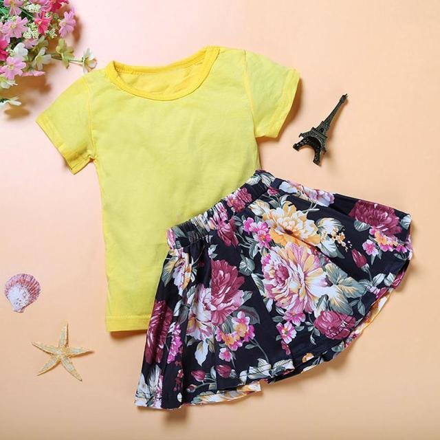 1-5 ano Novo Meninas Do Bebê Conjunto infantil Do Bebê Floral Crianças  Vestido Da 3be55a52b01