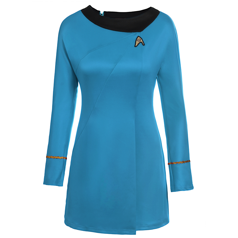 High Quality Star Trek Sign Embroidery Female Uniform Dress Cosplay Costume Gift