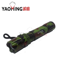 Army Color CREE Q5 Powerful Led Flashlight Focus Adjustable Tactical Rechargeable Flashlight By 18650 Or 3