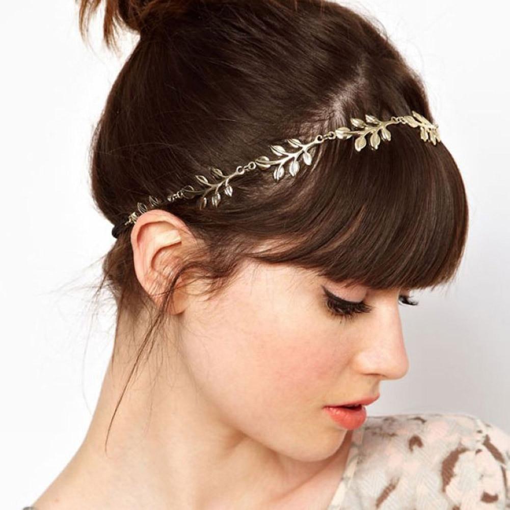 Europe and the United States hota sale gold Leaf Floral Garland Style Hair Band Grecian Leaf Hairband Headband Bridal Head