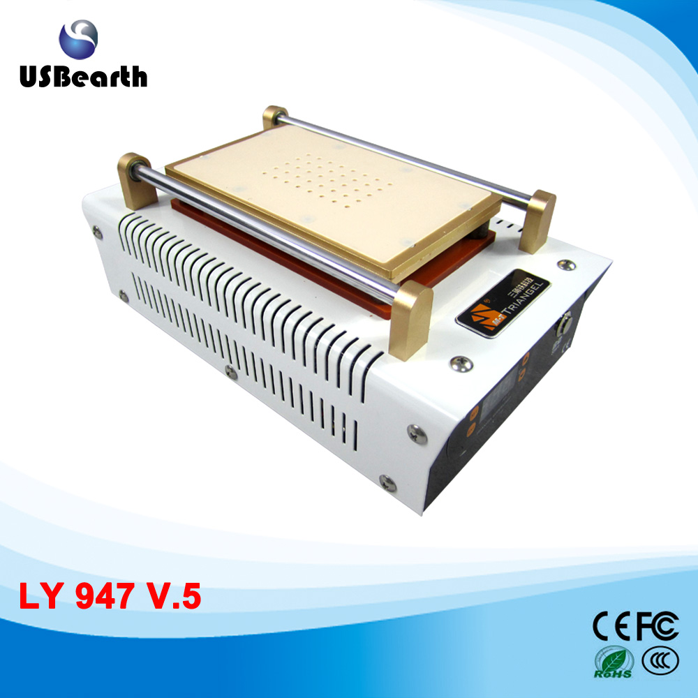 LY 947V.5 build-In Vacuum Pump LCD screen Separator For phone repair ship to Russia free tax free shipping screen repair machine kit ly 946d lcd separator for 5 inch mobile screen 12 in 1 separate machine