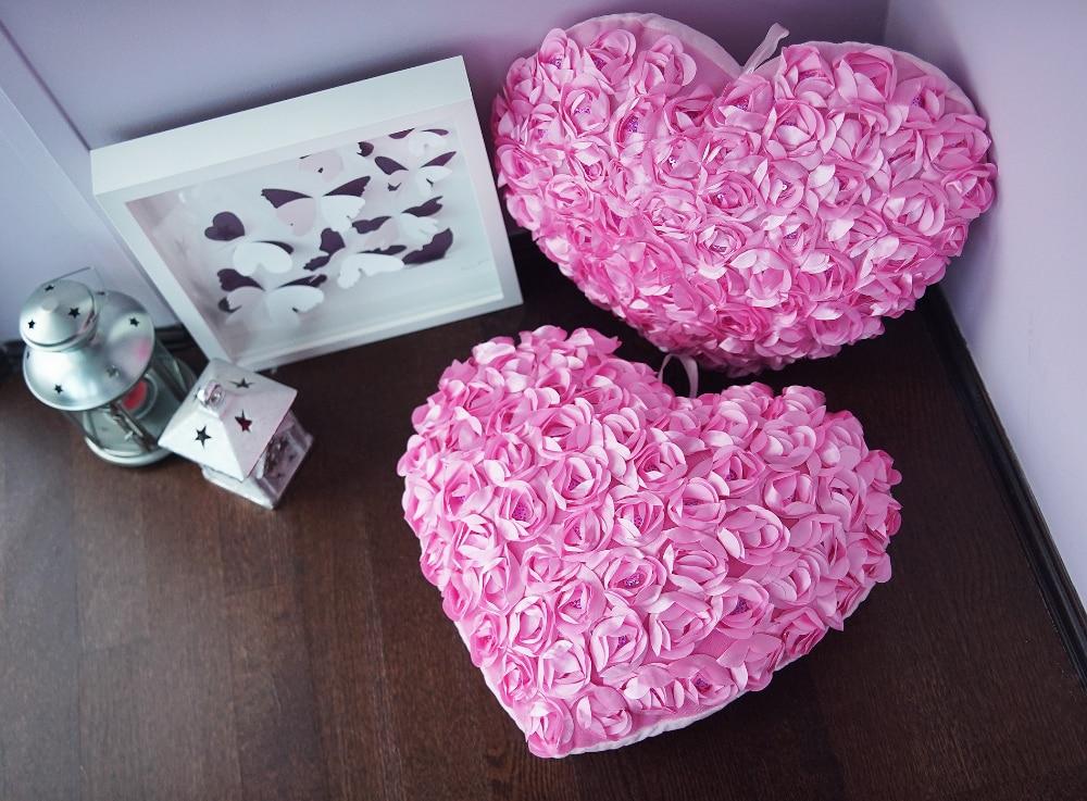 Подушки-сердца с цветочками с Алиэкспресс