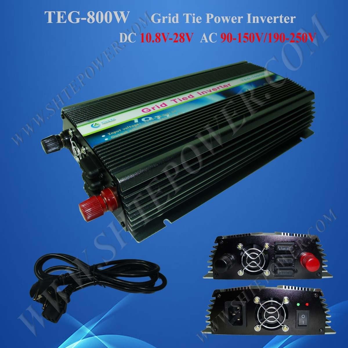 Лидер продаж-на сетке инвертор 800 Вт, панели солнечные Инвертор постоянного тока 10.8 В~ 28 В к ac 190 В~ 250 В, чистая синусоида