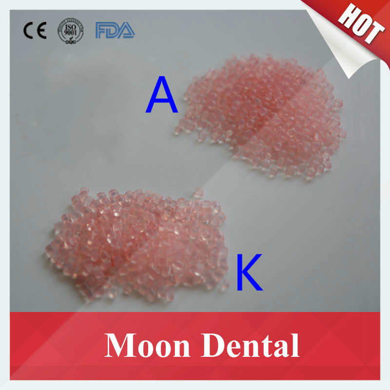 2KG Dental Valplast Flexible Resin Particle Material Color K1/K2/K3/A1/A2/A3 Light Pink & Pink for Partial Dentures partial to pink