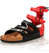 Hot Men's Retro high-top buckle Roman sandals summer time inflow of males and breathable cork
