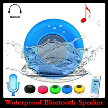 BTS-06 Mini Portable Bluetooth Speaker Waterproof Car Handsfree Receive Call&Music Suction Phone FM MP3 Wireless Mic Free Ship