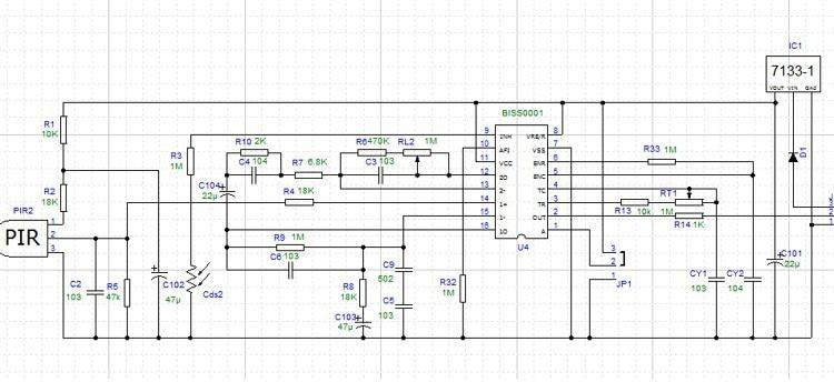 Motion sensor schematic