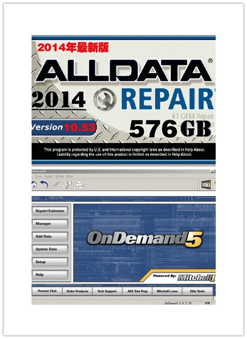 Prix pour 2017 date alldata et mitchell logiciel de réparation de voiture meilleur auto programme de réparation à new 750 gb disque dur travail pour tous voitures et camions