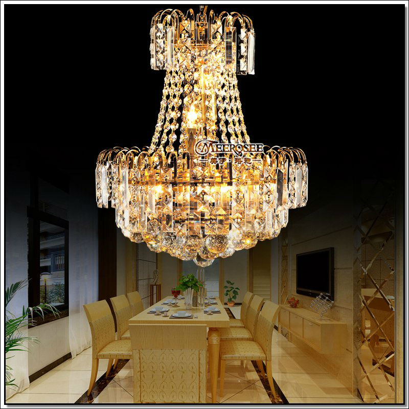 Luxious Chandelier Royal Empire Gold Crystal Chandelier Light French