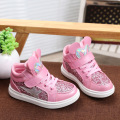 Winter girls shoes PU leather kids shoes sequins children flats shoes girls star patter casual anti-skidding sneakers