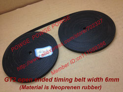 10Meters Rubber  GT2 open timing belt  width 6mm GT2-6mm for 3d printer RepRap Mendel Rostock CNC GT2 belt pulley
