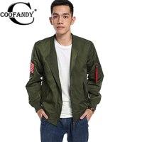 COOFANDY Casual Jacket Men Army Green Military motorcycle Flight Jacket Pilot Air Force Men Bomber Coat US size S,M,L,XL,XXL,3XL