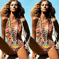 2017 Hot Sexy Women's One Piece Swimsuit Swimwear Bathing Monokini Push Up Floral Printed Women Bodysuit Swimsuit
