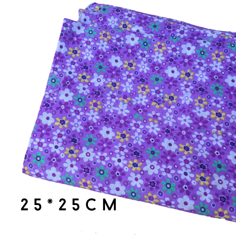 Hoomall 6PCs Purple Cotton Fabric Cloth DIY Handmade Home Decor ...