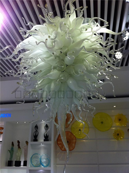 Style Well Designed Energy Saving LED Crystal Blown Glass Pretty White Pop Ceiling Chandelier|chandelier design|designer chandelier|ceiling chandelier - title=