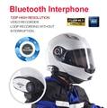 Безопасности Bluetooth Переговорные + Видео Рекордер для Мотоциклетный Шлем 720 P домофон для гонки вождение рекордер камеры видеонаблюдения