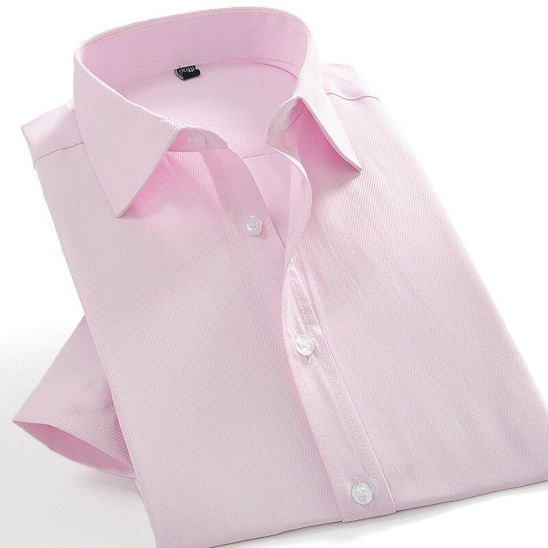 2017 лето мужчины с коротким рукавом рубашки тонкий Fit мужская платье рубашки сплошной цвет карман лоскутное случайные грива рабочая одежда рубашки yn569