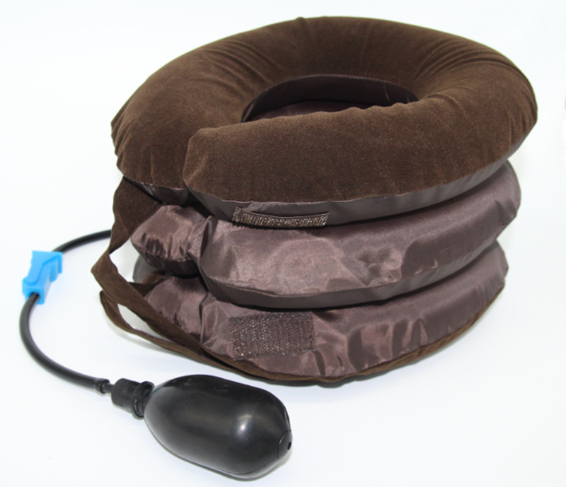 new arrival inflatable air neck shoulder neck pain relief comfort cervical traction neck massage pillow brace device Inflatable Air Cervical Neck Traction Collar Device Headache Back Soft Brace Fatigue Relief Body Massager