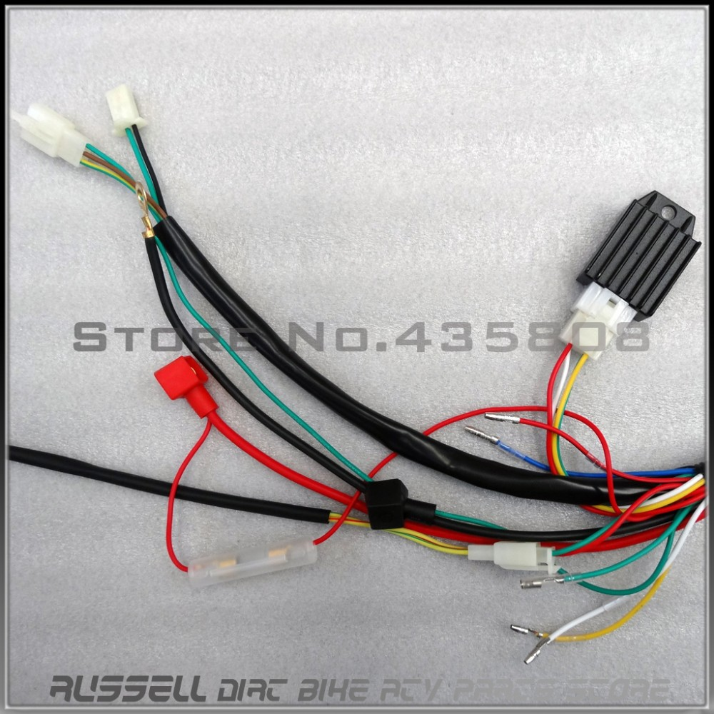 Full Electrics Wiring Harness CDI Ignition Coil Rectifier Switch 110cc on