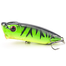 Fishing Lure 6 5cm 13g Hard Plastic Popper Wobblers Lure Artificial Fishing Top water Floating Bait