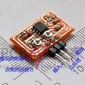 Бесплатная Доставка!!! перестраиваемый меандр генератор/генератора схема 555/с pin/с красным LEDD08/Электронных Компонентов