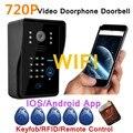 Wireless WiFi Video Camera Door Phone Intercom Doorbell Night IR IOS Android  APP Password/ID Card/Remote Controller Unlock