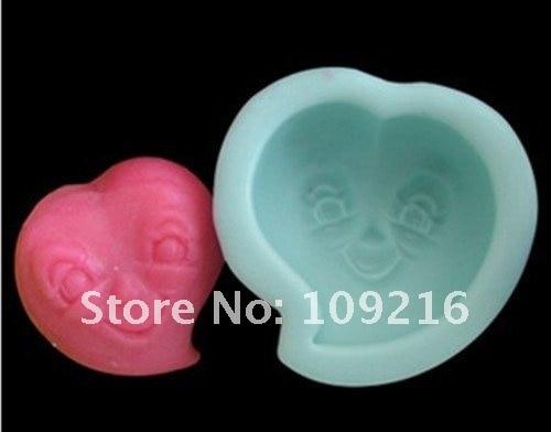 1 шт. Улыбающееся Уход за кожей лица(r0062) Силиконовые ручной Мыло Mold ремесел DIY Плесень