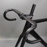 New superlogic carbon handlebar steering wheel steering rod internal cable bent steering wheel handle barsblack