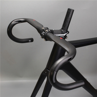 New superlogic carbon handlebar steering wheel steering rod internal cable bent steering wheel handle barsblack